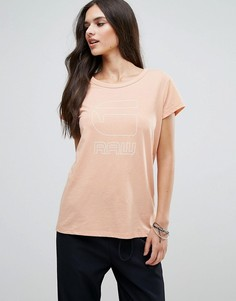 Свободная футболка G-Star Genzia - Розовый
