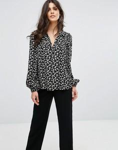 Рубашка с цветочным принтом BA&SH - Черный Ba&Sh