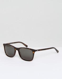 Солнцезащитные очки в квадратной черепаховой оправе Tommy Hilfiger - Коричневый