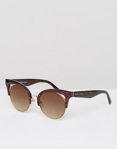Черепаховые солнцезащитные очки кошачий глаз Marc Jacobs - Коричневый