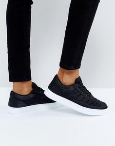 Черные атласные кроссовки со вставками New Look - Черный