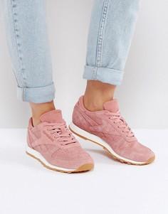 Классические кожаные кроссовки розового цвета Reebok - Розовый