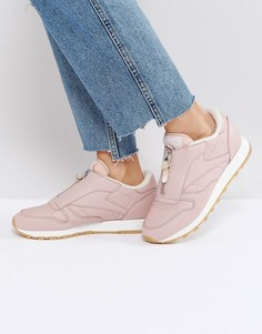 Розовые классические кожаные кроссовки Reebok - Розовый