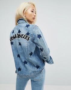 Джинсовая куртка с принтом Los Angeles и звездами Arrive - Синий