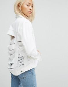 Куртка с рваной отделкой Arrive - Белый