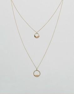 Многоярусное ожерелье ASOS - Золотой