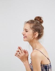 Резинка для волос с металлическим бантом ASOS - Золотой