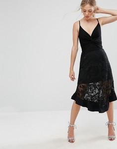Асимметричная кружевная юбка Isla Keynote - Черный