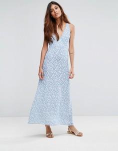 Платье макси с принтом Goldie - Мульти