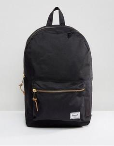 Черный рюкзак с застежкой на молнии и карманом Herschel Supply Co Settlement - Черный