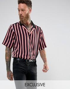 Рубашка классического кроя в полоску с отложным воротником Reclaimed Vintage Inspired - Красный