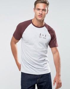 Серая облегающая футболка с логотипом Abercrombie & Fitch - Серый
