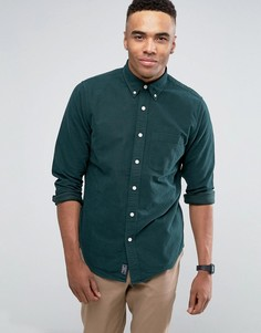 Темно-зеленая оксфордская рубашка слим Abercrombie & Fitch - Зеленый