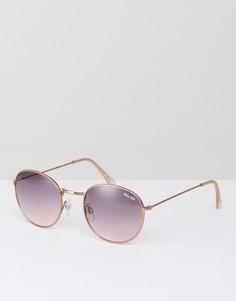 Круглые солнцезащитные очки с затемненными стеклами Miss KG - Золотой