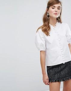 Блузка с вышивкой ришелье Sister Jane - Белый
