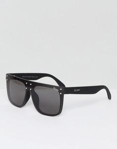 Черные солнцезащитные очки с плоским верхом Quay Australia X Kylie Jenner Hidden Hills - Черный