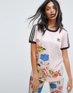 Футболка adidas Originals X Farm Floralita - Розовый