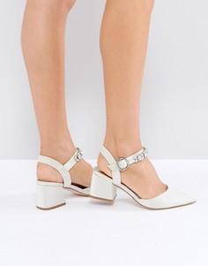 Туфли на каблуке с отделкой ASOS SHOWGIRL - Кремовый
