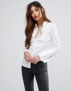 Рубашка с двойным воротником Sisley - Белый