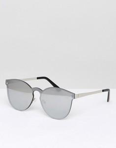 Круглые солнцезащитные очки с зеркальными стеклами ASOS - Серебряный