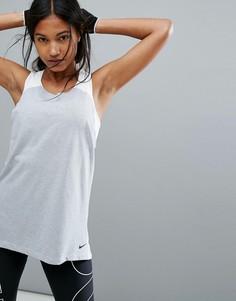 Свободная дышащая майка Nike Training - Серый