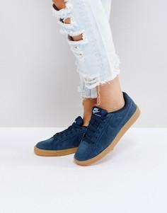 Темно-синие замшевые кроссовки Nike Court Royale - Темно-синий