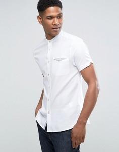 Узкая рубашка с короткими рукавами и воротником на пуговице Ted Baker - Белый