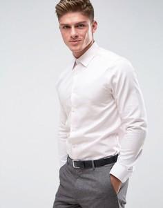 Рубашка слим из фактурной ткани Burton Menswear - Розовый