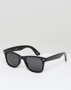 Черные квадратные солнцезащитные очки с поляризованными стеклами ASOS - Черный