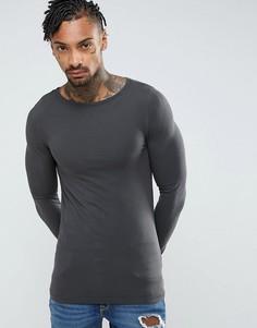 Обтягивающая футболка ASOS - Черный