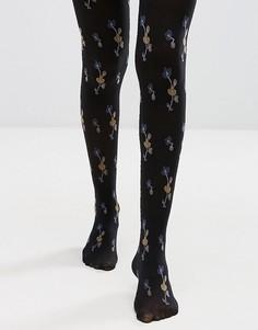 Колготки с цветочным принтом Gipsy - Черный