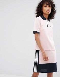 Светло-розовая футболка-поло adidas Osaka - Розовый
