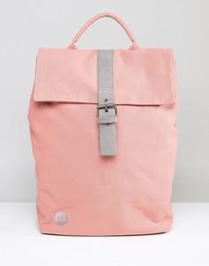 Розовый парусиновый рюкзак с откидным клапаном Mi-Pac - Розовый