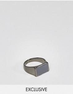 Кольцо с черным камнем DesignB London эксклюзивно для ASOS - Черный