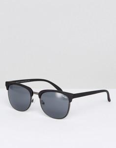 Солнцезащитные очки в стиле ретро Quay Australia Flint - Черный