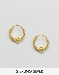 Золотистые серьги-кольца Kingsley Ryan - Золотой