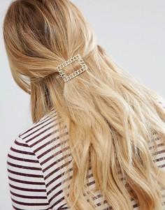 Заколка для волос с отделкой в виде звеньев цепочки ASOS - Золотой