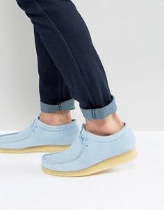 Синие замшевые туфли Clarks Original Wallabee - Синий