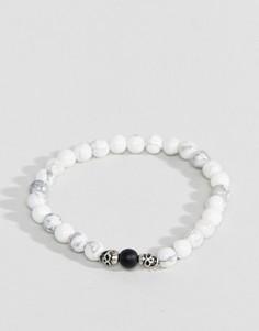 Белый браслет из бусин Seven London - Белый