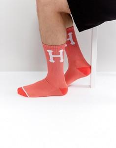Носки с крупным логотипом HUF - Розовый