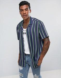 Полосатая рубашка классического кроя Jaded London - Зеленый