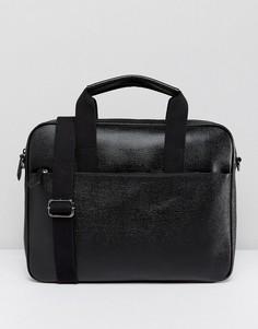 Кожаная сумка для документов Ted Baker Morcor - Черный