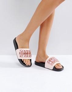 Сандалии с отделкой камнями Truffle - Розовый