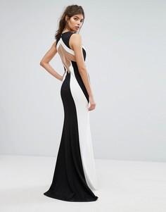 Монохромное платье макси Forever Unique - Черный