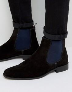 Черные замшевые ботинки челси Dune Marky - Черный