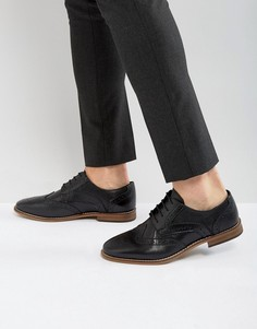 Черные кожаные броги ASOS - Черный