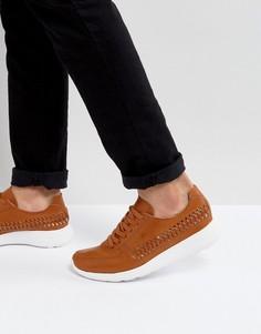 Светло-коричневые кроссовки с плетеной отделкой ASOS - Рыжий