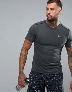 Черная футболка Nike Running Breathe 833136-010 - Черный