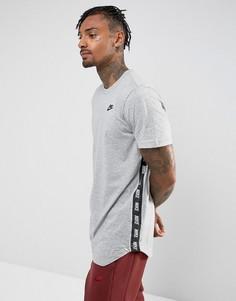 Серая футболка с принтом Nike 877086-063 - Серый