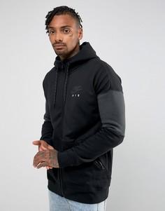 Худи черного цвета на молнии Nike Air 861612-010 - Черный